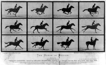 The horse in motion at http://upload.wikimedia.org/wikipedia/commons/7/73/The_Horse_in_Motion.jpg by Eadweard Muybridge at wikipedia http://en.wikipedia.org/wiki/Eadweard_Muybridge